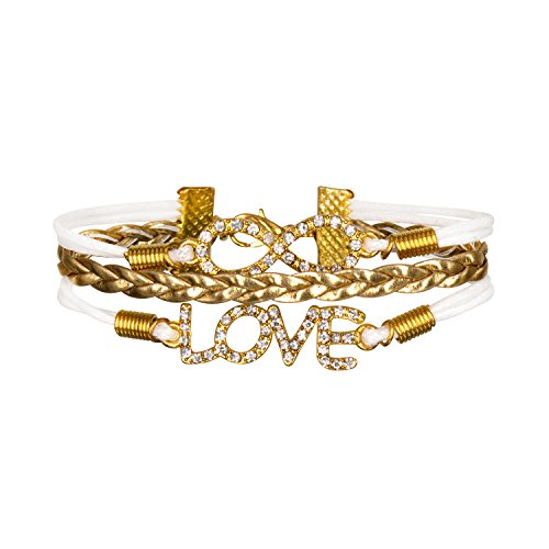 Bracelet Infini Croix Karma Infinity Love Blanc Multibrins