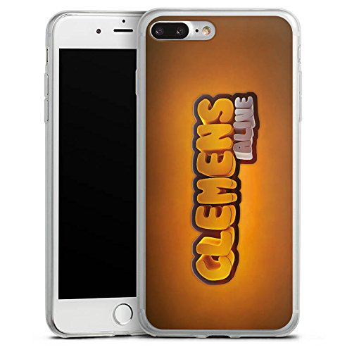 Apple iPhone 8 Slim Case Silikon Hülle Schutzhülle Clemens Alive Fanartikel Merchandise Youtuber Silikon Slim Case transparent