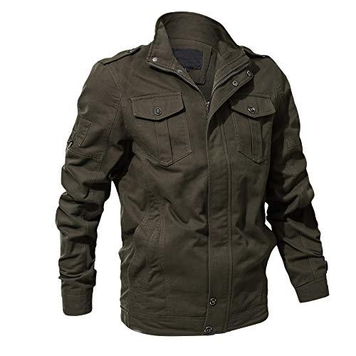 SEWORLD Mantel Sweatshirt Krawatte im Freien Herren Langarm Warmer Färben Solide Hoodie Button Tooling Jacke Top Bluse für Winter/Herbst/Frühling(W-c-grün,EU-40/Medium)