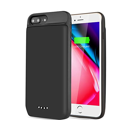 YPLANG Akku Hülle für iPhone 6 Plus/ 6S Plus/ 7 Plus/ 8 Plus, [7000mah] Battery Case, Externe Handyhülle Wiederaufladbare Ladebatterie Akkuhülle, Power Bank Backup Ladegerät Schutzhülle (5,5 Zoll)