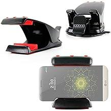DURAGADGET Soporte Para Smartphone LG G2 Mini / LG G3 / Meizu M2 Note / Motorola Moto E (2015) / Blackberry Q10 + ¡Gamuza! - Con Potente Adhesivo