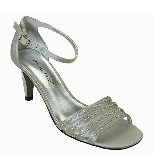 6 C/D US , Silver : David Tate Women's Terra Sandal