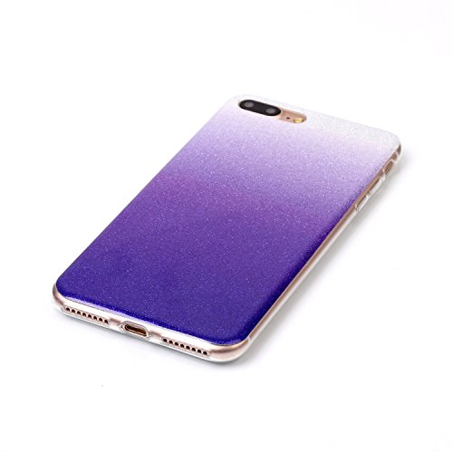 iPhone Case Cover Gradient Pattern Couleur Silicone souple TPU Housse de protection arrière pour IPhone 7 Plus ( Color : I , Size : IPhone 7 Plus ) L