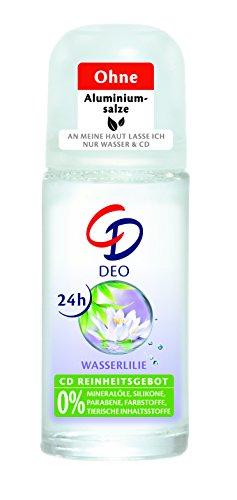 CD Deo Roll-On Wasserlilie / Deoroller ohne Aluminium für 24 Std Schutz im Vorratspack / 3er Pack (3 x 50 ml)
