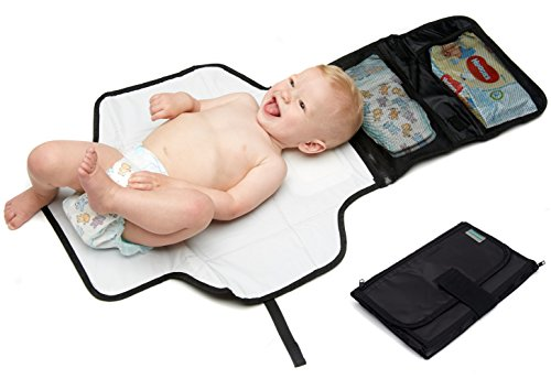 Kid Transit Baby Travel Changing Mats - Portable Compact Foldable Change Mat - Detachable Storage Bag Test