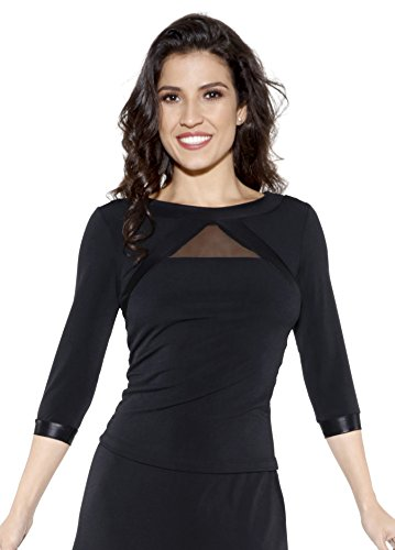 So Dança E-11231 3/4-Arm Hemd für Damen XXL Schwarz