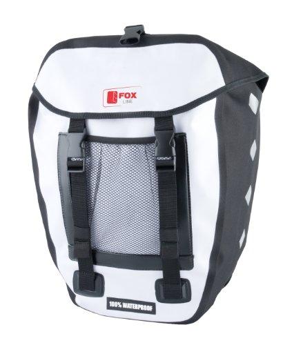 Fox Line Hecktasche Gepäckträgertasche, Weiß/Schwarz, 33.5 x 16 x 60 cm, 18 Liter, 05121000