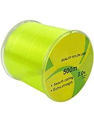 hkyiyo Super Résistant en nylon 500m (547Yard) 9kg 0,28mm Diamètre de fil de pêche–Jaune fluo