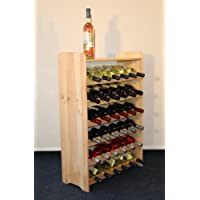 Vino rack vino rack scaffale portabottiglie in legno per 36+