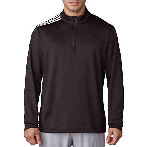 Adidas Men's 3-Stripes Classic 1/4 Zip French Terry Sweatshirt
