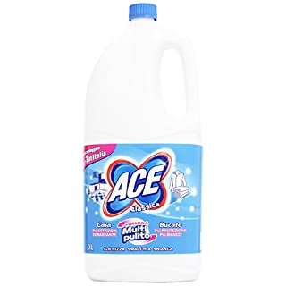 Ace Classic Bleach For Cleaning and Laundry, Multi-clean Formula, 3 x 3 Litre Bottles [9 Litres]