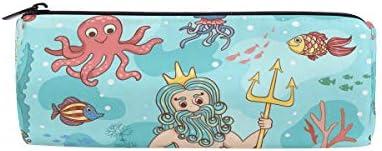 Funny Funny Funny Ocean Poisson sirène Trousse Sac pochette pour enfants garçons filles étudiant d'école avec fermeture à glissière ronde Maquillage Sac B07HNR27XB 6bf7ae