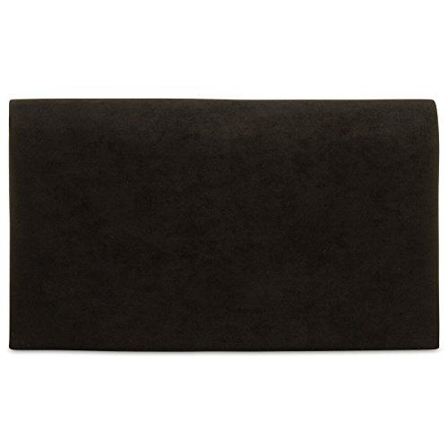 CASPAR TA356 Damen elegante Textil Velours Envelope Clutch Tasche/Abendtasche mit langer Kette
