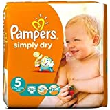 Pampers Simply Dry taille 5 (11–25 kg) Junior X 32 par lot