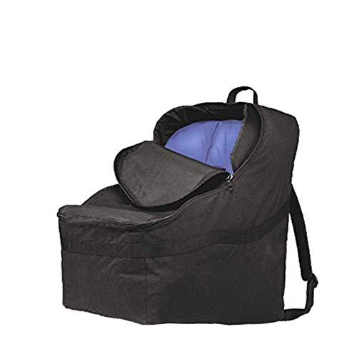 Autositz-Reisetasche Robuster gepolsterter Rucksack schützt Ihren Kindersitz und die Verwendung für das Flugzeug,Black