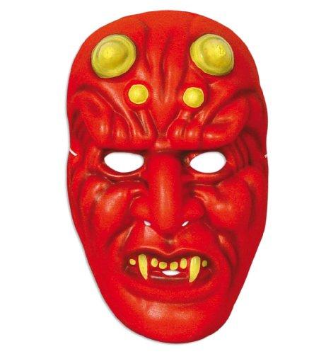 t, für Erwachsene, Universalgröße Unisex, Teufelsmaske, teuflisch, Halloweenmaske, Gruselmaske (Traditionen Halloween-irland)