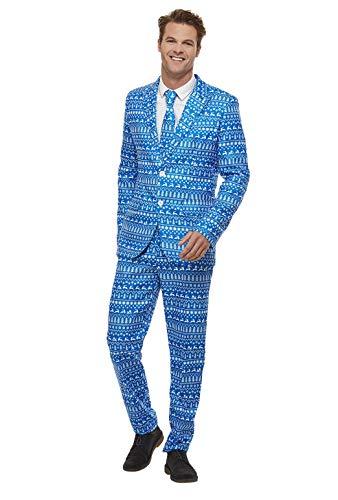 Smiffys 61020L - Traje de papel de regalo, para hombre, multicolor, talla L, 106,68-111,76 cm