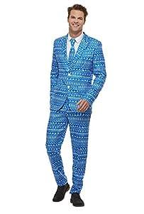 Smiffys 61020M - Traje de papel de regalo, para hombre, multicolor, talla M, 96,5-101,6 cm