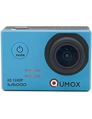 QUMOX Original SJ5000 - Cámara de Deporte para casco Impermeable, Video de Alta definición 1080p Full-HD de 2.0 pulgadas 2'' 170 ° Lente Submarino HD impermeabilizan la videocámara DVR, Color Azul