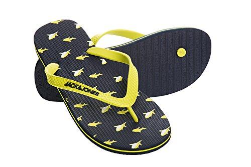JACK JONES - Herren flip flops shark print Gelb