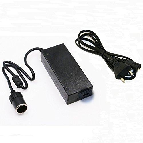 Convertisseur de Tension Adaptateur Tvird Secteur Adaptateur d'Alimentation Adaptateur de Puissance Prise d'Allume-cigare de Voiture de 120W 110-220V 10A AC à 12V DC Noir