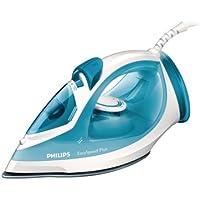 Philips GC2040/70 EasySpeed - Plancha de vapor con suela antiadherente, 2100 W, color blanco y azul