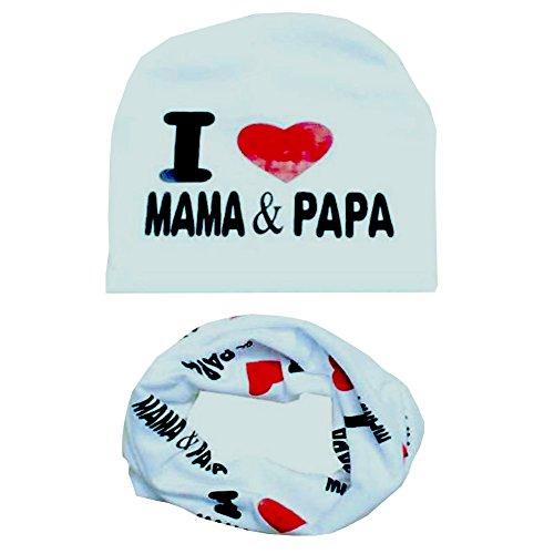 Jungen Für Baby Mützen (Hankyky Baby Mütze O-Ring Schal Jungen Mädchen Kleinkinder Schal Kind Schal Hüte Mützen (2er Pack)