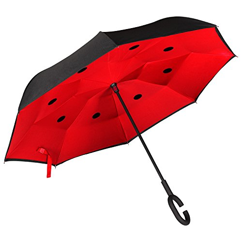 eb9dde9369 Paraguas Invertido. Paraguas Inverso Original Reversible de Colores de Mujer  y Hombre ...