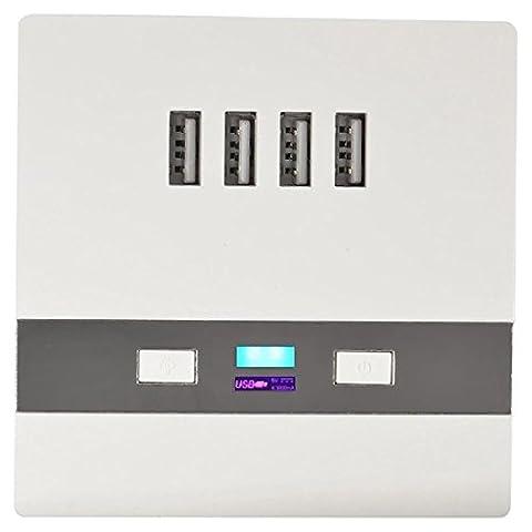 Shoot® Station de charge 4 prises USB avec interrupteur et
