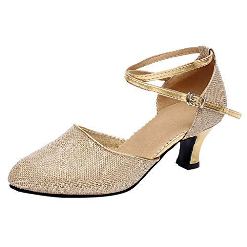 Amlaiworld Damen Ballsaal Tango Latin Salsa Tanzschuhe Pailletten Schuhe Social Dance ()