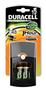 Duracell CEF26 Ladegerät Fast Charger 1h inkl. 2xAA und 2xAAA Batterien