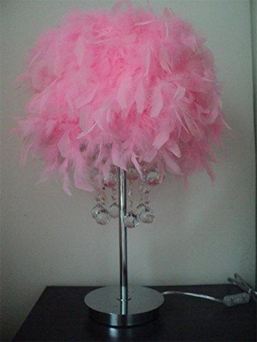 Lampada Feather lampada da comodino camera da letto salotto creativo della moda moderna romantica di cristallo
