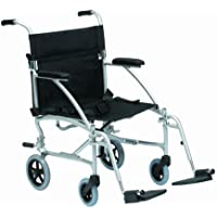 Drive DeVilbiss Healthcare Silver Spirit Lightweight Aluminium Folding Travel Chair in a Bag