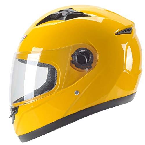 ZJJ Helm- Personalisierter Regen- und UV-Schutzhelm, Unisex-Helm mit voller Abdeckung, transparente HD-Linse (Farbe : Gelb, größe : One Size)
