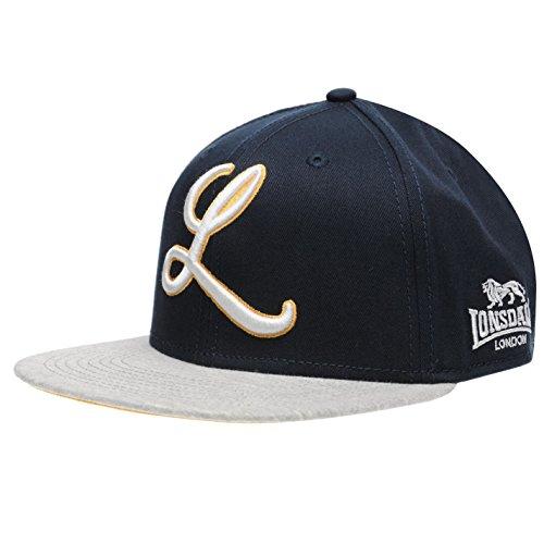 Lonsdale Herren Logo Snapback Flat Peak Cap Marineblau Herren
