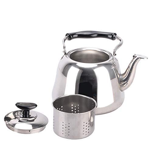 Baoblaze Edelstahl Flötenkessel Wasserkessel Wasserkocher Teekessel mit Filter, Kapazität: 1L, 2L, 3L