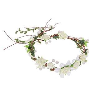 Hochzeit Braut Blumen Stirnband Blumenkränze Haarkranz Kopfbedeckung Accessoires