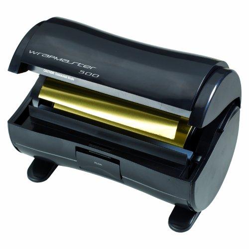 Wrapmaster-500-Distributeur-d-039-Aluminium-pour-Les-Cheveux-Noir