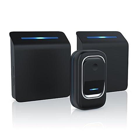 Sheer - sonnette digitale (sans fil / portable) | Wireless Digital Door Bell | 36 mélodies sons sélectionnables | quatre niveaux sonores | signal optiqie (LED) | haute portée (jusqu'à 100m) |