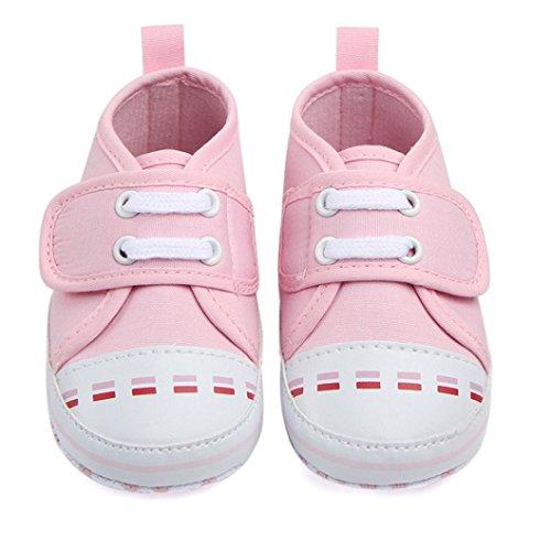 Meses 0 Sapatilha De Sapatos Para Sola Rosa Criança Antiderrapante 12 Lona De Sapatos Macia Bebê De Sapatos Bebê nw8xa64Cnq