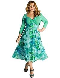 Vestido de Flores de Talla grande Mujer, LILICAT Boho Evening Party Beach Conjunto de Vestidos
