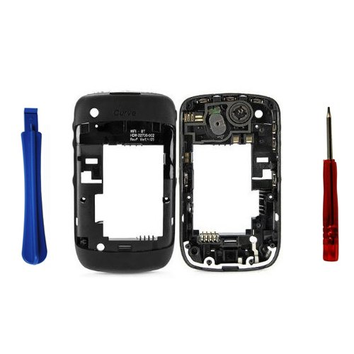 BisLinks® Blackberry Curve 8520 Schwarz midplate + Chassis / Mittlerer Frame / Gehäuse (Gehäuse 8520 Blackberry)