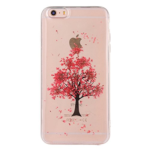 Pour iPhone 7 Epoxy Dripping Pressed Real Dried Flower Soft Transparent TPU Housse de protection JING ( SKU : Ip7g2996f ) Ip7g2996q
