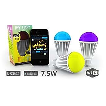 3 x Ampoule LED WiFi Type Edison E27 Multicolore ✓ RVB RGB ☆ 7,5W 85 - 265V   wifi inclus