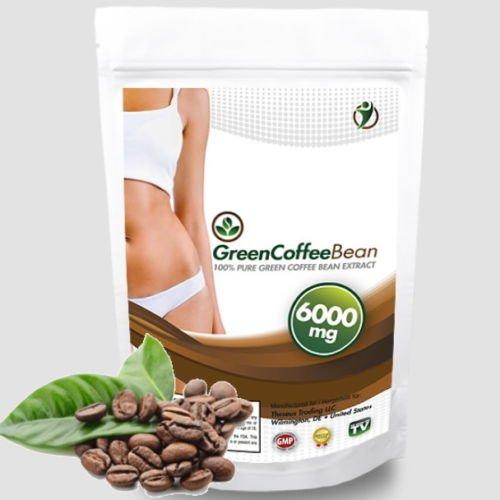 120 Kapseln Green Coffee Bean Extrakt a 6000mg - 50% Chlorogensäure - ausreichend 40 Tage Kur - schnelle Gewichtsabnahme mit 100% Grüne Kaffeebohnen - Premium Qualität