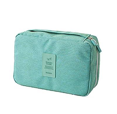 KayMayn Portable Voyage Maquillage de sac de toilette à suspendre crochet, étanche Organiseur homme femme, d'accessoires Kit de toilette sec humide Séparation