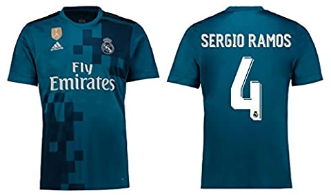 Trikot Kinder Real Madrid 2017-2018 Third WC - Sergio Ramos 4 (164)