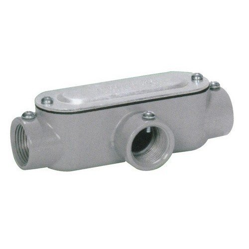 Morris 14262 Combination Conduit Body, Aluminum, Type T, Threaded, Set Screw with Cover and Gasket, 1-1/2 Thread Size by Morris -