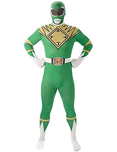 Film Ranger Kostüm Green (Mighty Morphin Power Rangers Green Ranger - Adult 2nd Skin Costume Men :)
