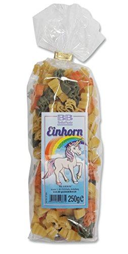 Bunte Nudeln 'Pasta Einhorn'